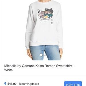NEW WITH TAG Michelle by comune Ramen Sweatshirt